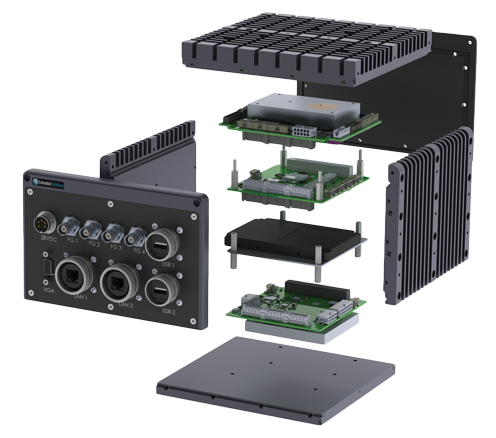 Exploded 3D CAD View Of a Configurable Modular Enclosure System